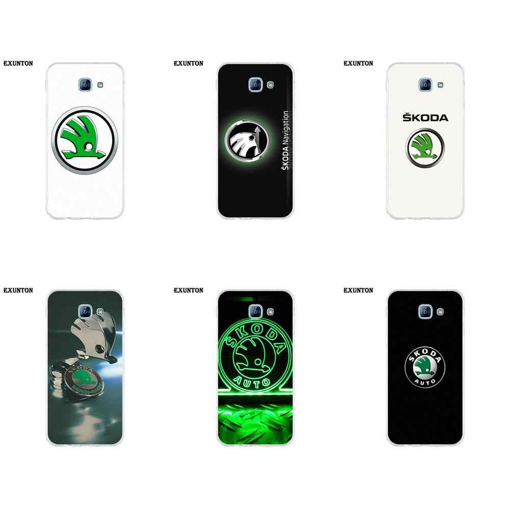 Soft Hotsales Skoda Logo For Galaxy A3 A5 A7 A8 A9 A9S On5 On7 Plus Pro Star 2015 2016 2017 2018