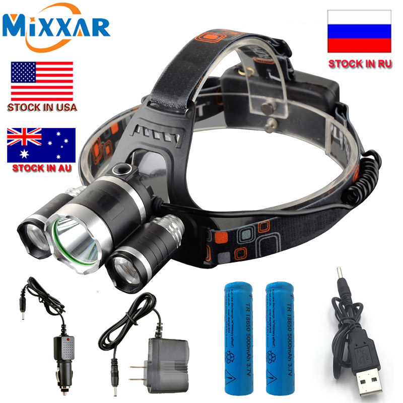 ZK20 Dropshipping LED Headlight  T6 13000Lm Head Lam Hiking Fishing Headlamp Light +2x18650 5000mah battery + Wall Car chargerZK20 Dropshipping LED Headlight  T6 13000Lm Head Lam Hiking Fishing Headlamp Light +2x18650 5000mah battery + Wall Car charger