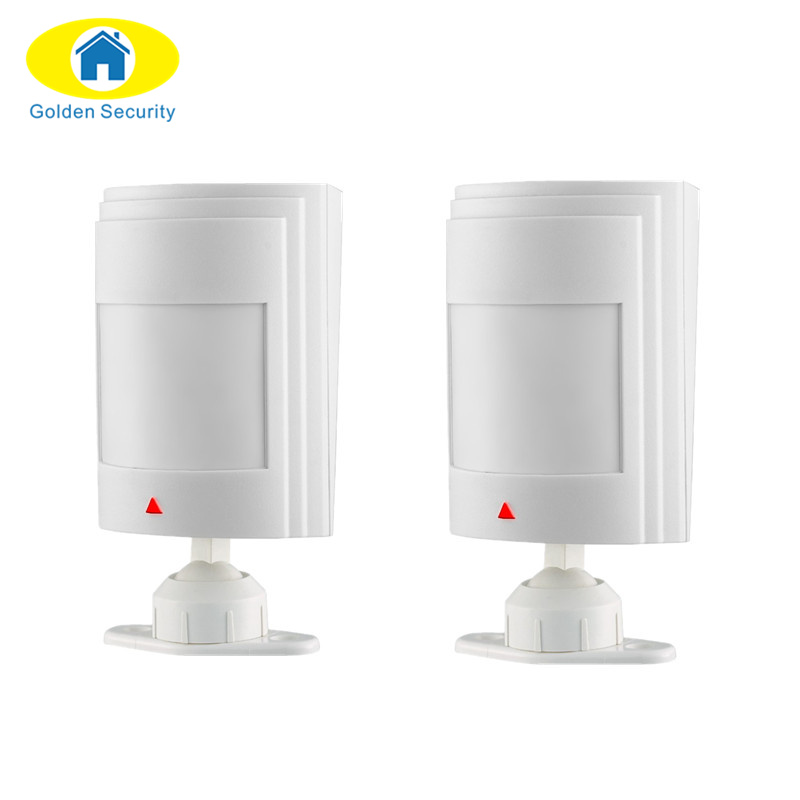 Golden Security 2ps Wired PIR Motion Sensor Detector high sensitivity For 10A/G11A GSM Home Security Alarm System personal alarm wireless pir sensor motion detector gsm alarm system alert for personal safely security new arrival high quality