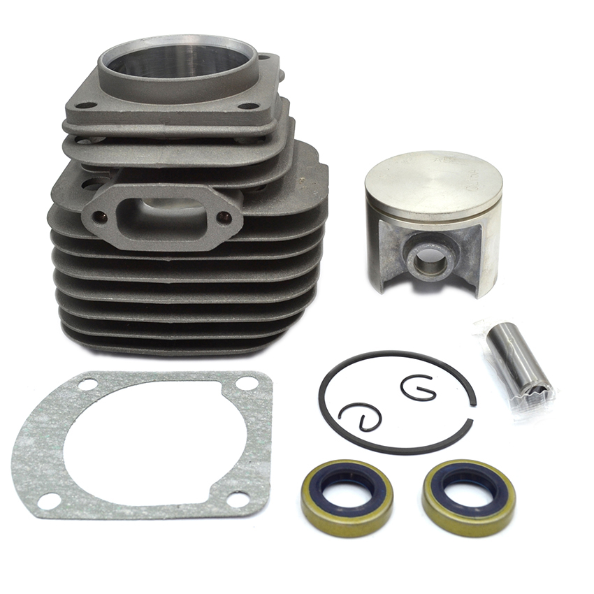 50MM Chainsaw Cylinder Piston Oil Seal Kit Fits HUSQVARNA 268 268K OEM # 503 61 10 71 changchai 4l68 engine parts the set of piston piston rings piston pins