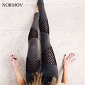 NORMOV S-L Women Adventure Time Leggings Net Legging Hollow Net Yarn Workout Legging Cotton Leggins Quick Drying Leggings Women