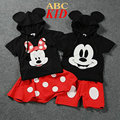 Black Hooded Shirt + Pants Skirt Cartoon Minnie Mickey Clothing Sets Quality Ski Suit Conjunto Infantil Menina Clothes KD269