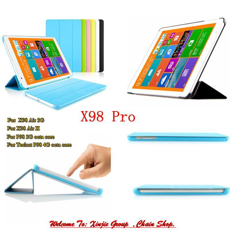 Protective Flip PU Leather Case With Stand For Teclast X98 AIR II X98 Air 3G P98