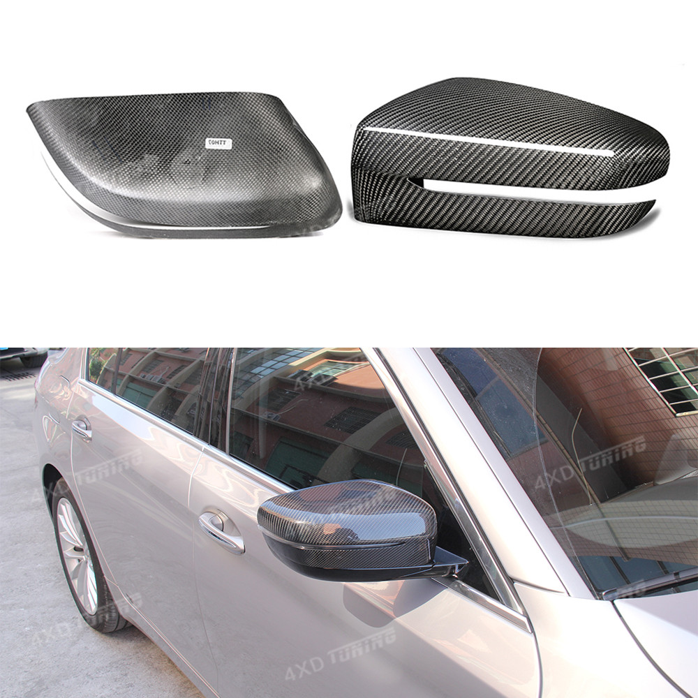 For BMW G30 Carbon Mirror 5 Series G30 G38 6 series GT G32 Carbon Fiber Rear View Mirror Cover Add On Style only fit LHD 2017-UP