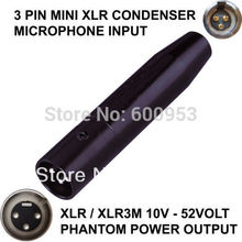 цена на TA3F 3 PIN MINI XLR MALE CONDENSER MICROPHONE TO XLR / XLR 3-PIN MALE PHANTOM POWER ADAPTOR ADAPTER