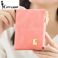New arrival 2016 Vertical section women wallets fashion zipper hasp short design small wallets coin purse freeshipping