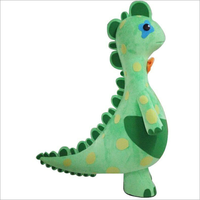 Green Dinosaur Mascot Costume Suit Character Mascotte Adulte Carnival Dress Clothing Advertising Carnival Halloween Christmas