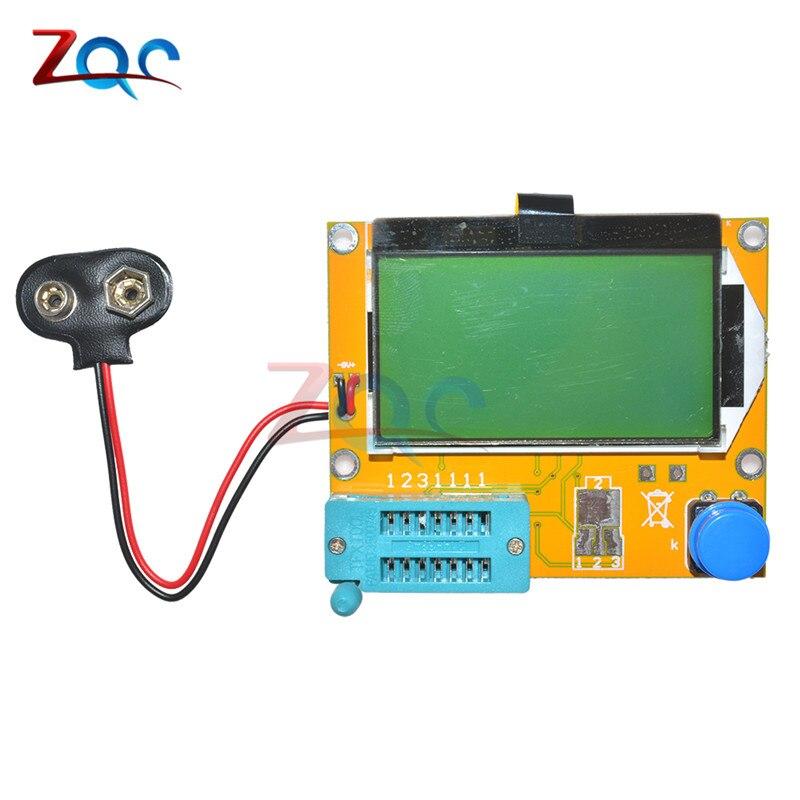 M328 LCR-T4 Mega328 ESR meter LCR LED transistor tester diodo triode capacitancia mos PNP NPN 12864 Módulo de visualización