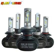 2 шт. H7 LED H4 H11 H1 H3 9005 9006 автомобилей светодиодные фары авто туман лампы 50 Вт 8000LM автомобильной лампы чипы csp 6500 К освещение автомобиля