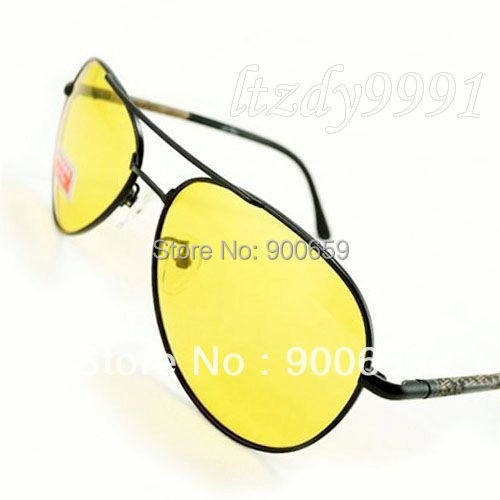aa36712a1 9PCS/Lot Yellow Lenses Polarized Safety Night Driving GLASSES oculos gafas  LP2213 Drivers Night Vision Goggles Reduce Glare