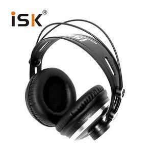 Image 4 - צג אוזניות מותג מקורי ISK HP 980 מקצועי סטודיו DJ אוזניות 3D סראונד סטריאו אוזניות Hifi אוזניות