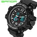 Moda marca sanda hombres reloj deportivo militar impermeable analógico digital led relojes de pulsera de lujo ocasional masculina relojes 2017 nuevo