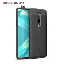 For Oneplus 7 Pro Case Soft Luxury 6.67 inch Leather Silicone Coque Fundas Cover