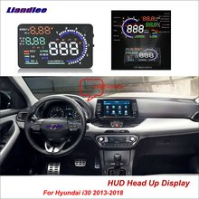 Liandlee Car Head Up Display HUD For Hyundai i30 2013-2018 Safe Driving Screen OBD II Speedometer Projector Windshield