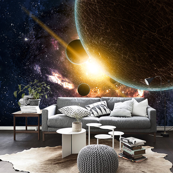 Free Shipping custom 3D stereo outer space wallpaper mural ceiling Bar cafe restaurant hotel KTV wallpaper free shipping 3d custom wall paintings large construction projects stone unicorn wallpaper hotel cafe ktv wallpaper mural