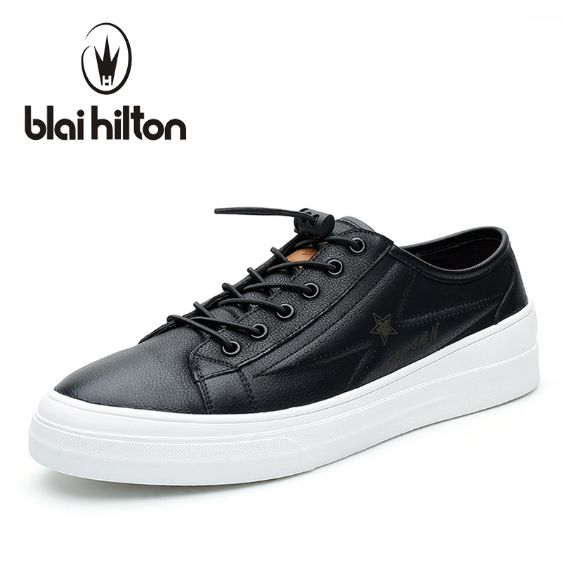 blaibilton Elastic Band Designer Men Casual Shoes Genuine Leather Flat Luxury Fashion Brand Male Shoes Footwear SD7098