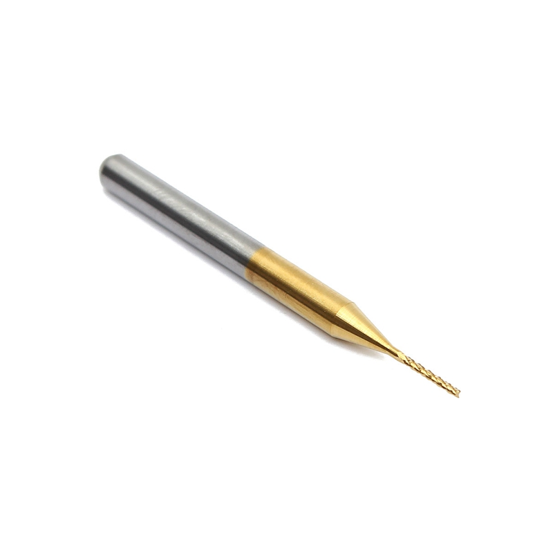 10PCS 1mm Tungsten Steel Titanium Coat Carbide End Mill Engraving Bits CNC PCB Rotary Burrs Milling Cutter Drill Bits