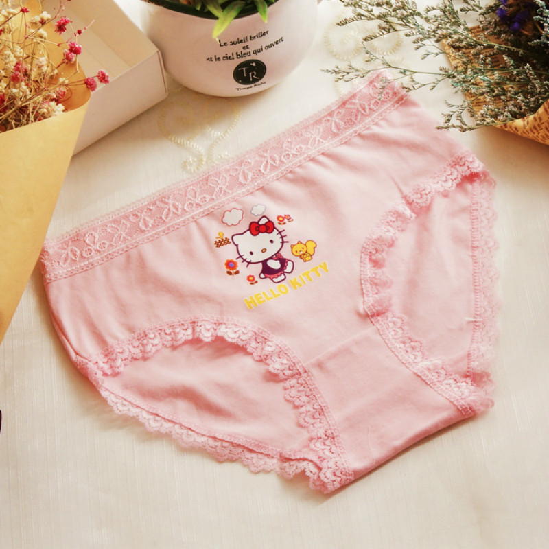 2018 New hot 6pcs/lot children underwear girls lace cartoon briefs sweat sweat cotton shorts kids panties for 2-10year HS8965