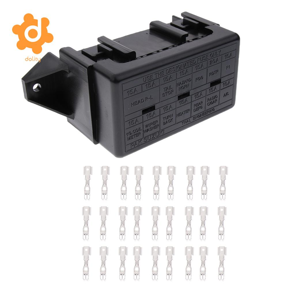 Car 18 Way Blade Fuse Holder 10 Relay Socket Fusebox Box Clamps Automotive Boat 14way Middle Ato Atc Block With Terminals