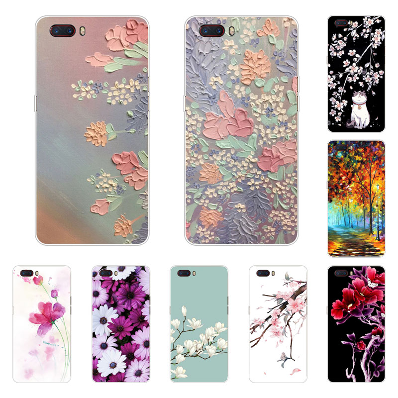zte nubia m2 Case,Silicon Full flower Painting Soft TPU