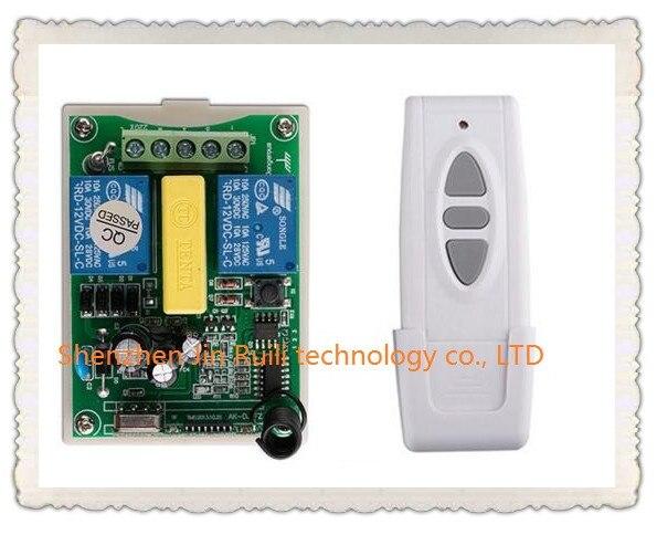 AC220V 2CH Wireless Remote Control Switch Motor Positive &negative 1*Receiver + 1 *Transmitters for Appliances Gate Garage Door the positive side of negative enterprise