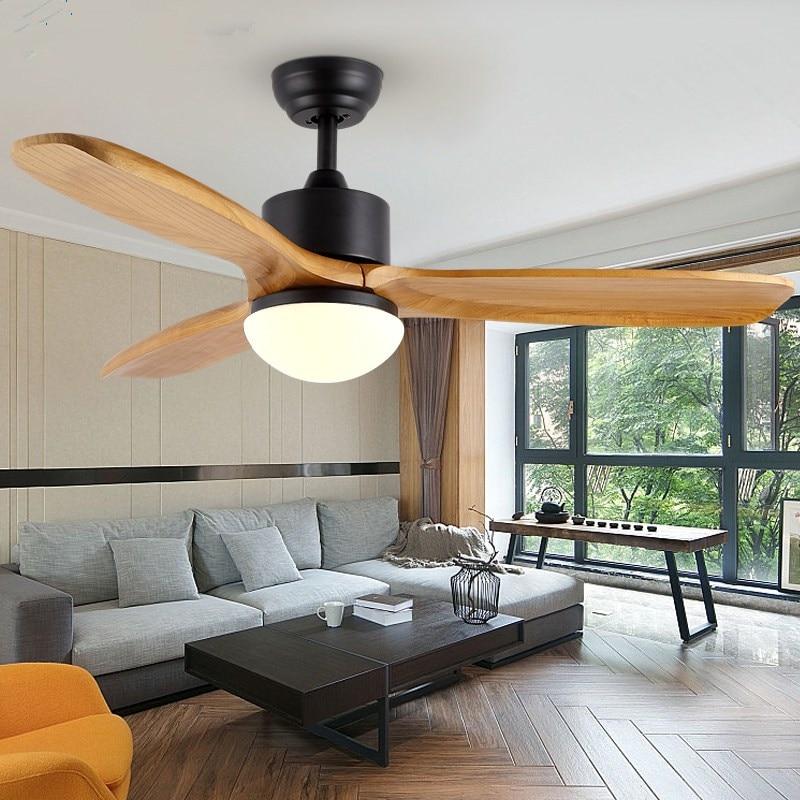Wooden Ceiling Fans Without Light Bedroom 220v  Ceiling Fan Wood Ceiling Fans With Lights Remote Control Ventilador De Teto