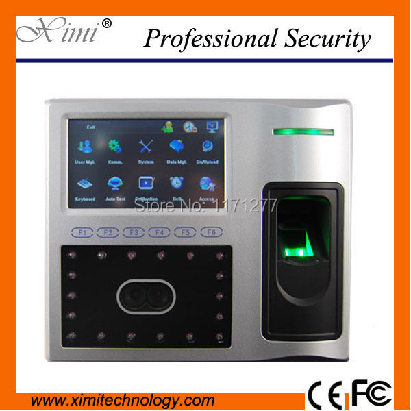 Good quality TCP/IP communication Linux system biometric scanner 4 3inch  color screen face fingerprint time attendance device