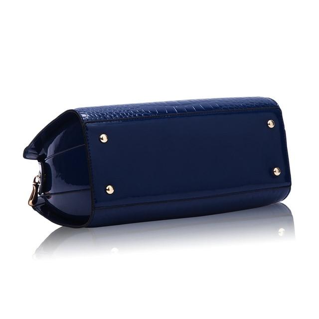 RanHuang Women Alligator Handbag High Quality Luxury Patent Leather Shoulder Bag Fashion Message Bags Blue Bolsa Feminina A166