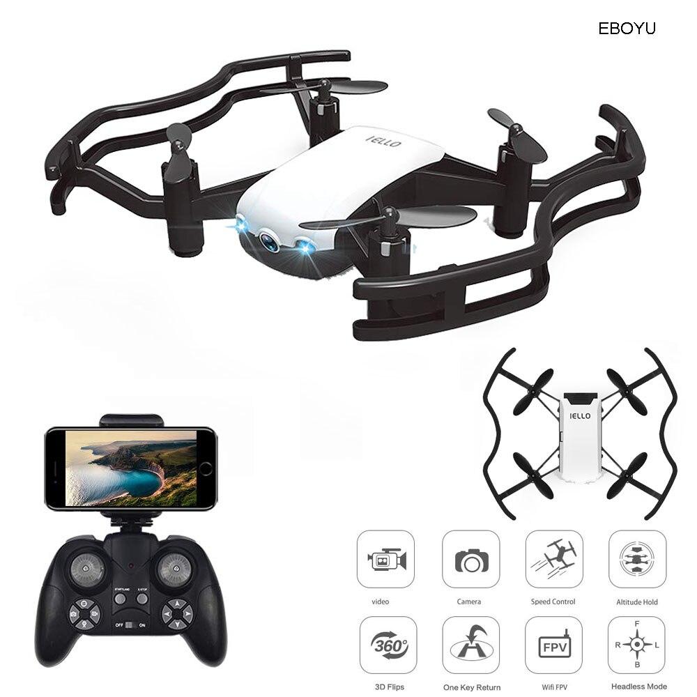EBOYU F21W F21G Florld IELLO 720 P Mini WiFi FPV RC Drone wysokość nad poziomem morza dron do selfie z APP sterowania RC Quadcopter drone RTF