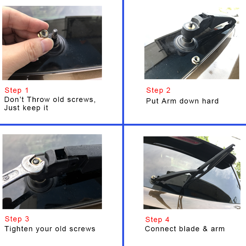 OGE Rear Wiper Blade And Arm For Audi RS3 2011 2012 2015 2016 2017 2018 Car Silicone Rubber Auto Windscreen
