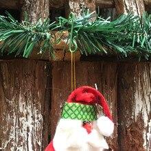 100pcs Christmas Ornaments Hooks Christmas Tree Decoration Pendants Santa Claus Dolls Hanging Hooks