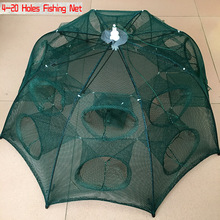 NEW Automatic Fishing Net Shrimp Cage Nylon Foldable Crab Fish Trap Cast Net Cast Folding Fishing Network