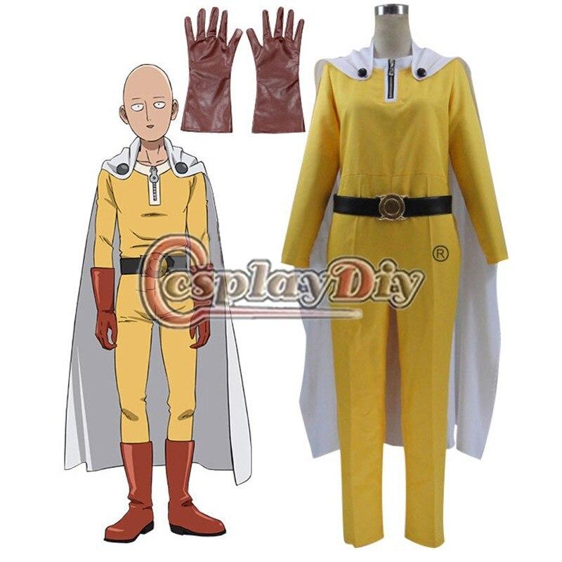 Cosplaydiy One Punch Man Saitama Caped Baldy Hagemanto Cosplay Costume For Halloween Carnival Custom Made
