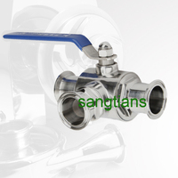 DN25 3 way ball valve stainless steel 304 ,,GASKET TO SUITE 3 WAY BALL VALVE AND CLAMP