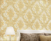 Beibehang High Quality Classic European 3D Relief Deluxe Living Room Bedroom Study Background Wallpaper