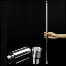 лучшая цена Vanishing Disappearing Cane To Silk/Flower Silver Magic Cane Close Up Stage Magic Tricks Props for Professional Magician