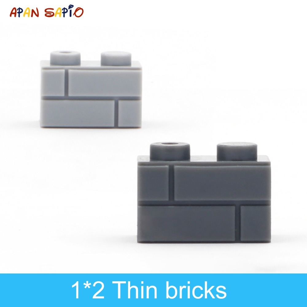 DIY Building Blocks Thick Wall Figures Bricks 1x2 Dots 96PCS Lot Educational Creative Compatible With Brands Toys For Children