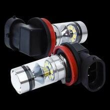 1 sztuka Super Bright H11 H8 H9 zakrzywiona powierzchnia reflektor puchar LED Auto przednie światło przeciwmgłowe samochód przeciwmgielne LED światło przeciwmgielne żarówka jazdy