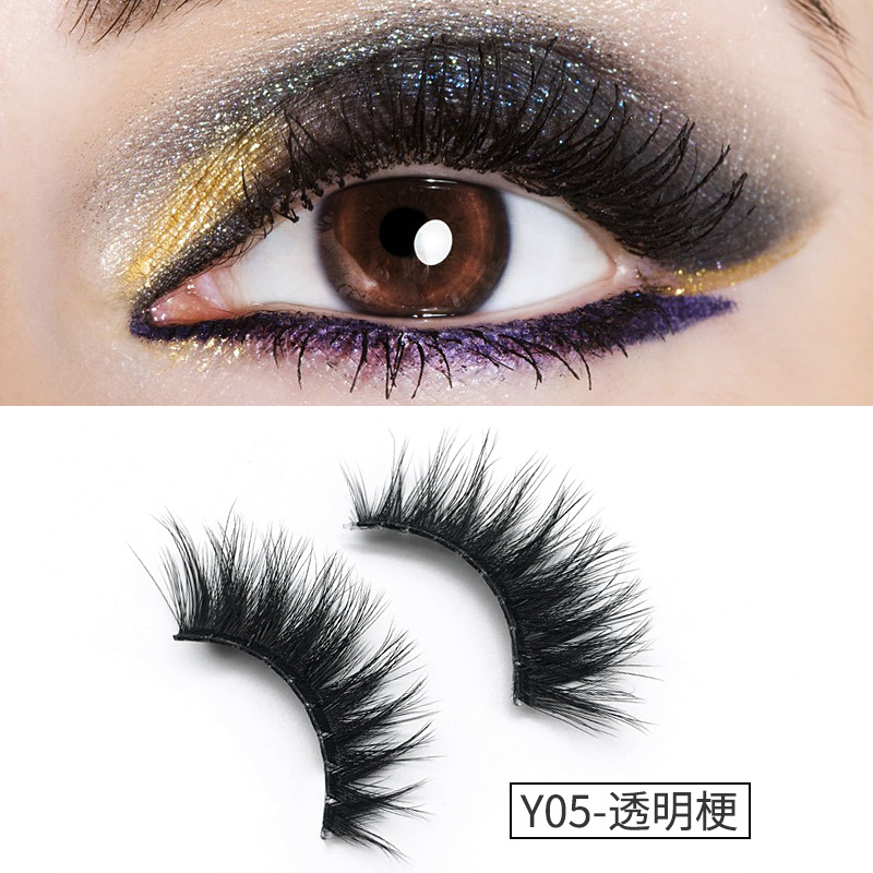 Y Series Fake Eye Lashes False Eylashes Natural 3D Mink Lashes cilio cilia faux mink individual artificial eyelashes
