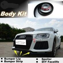 Novovisu для Audi Q5 2008~ бампера для губ Средства ухода за губами/магазин спойлер для автомобиля настройки/Средства ухода за кожей комплект+ полосы