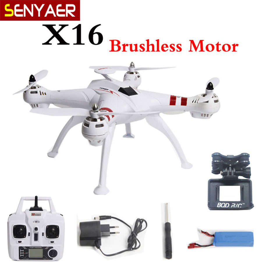 Brushless Motor BAYANG X16 Drone 2 4G 4CH 6Axis With HD 2MP Camera RC Quadcopter RTF
