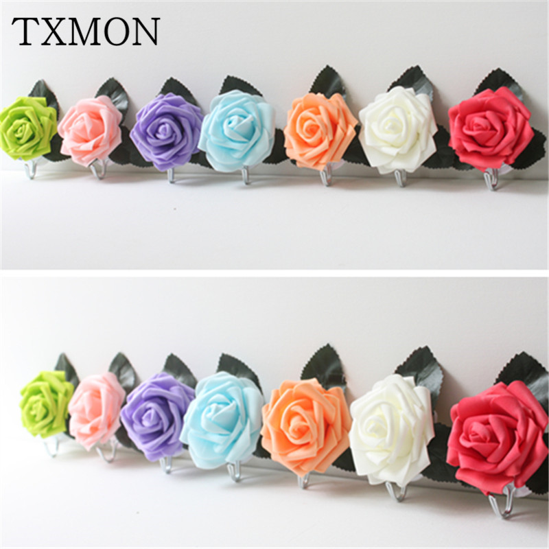 Large garden hook strong hook rose clothes creative hooks 7 color seamless wall adhesive hook decoration room supplies