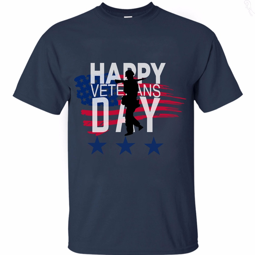 Happy Veterans day Big sale printed Cotton T-shirts In USA Size