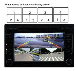 Image 5 - Mini enregistreur DVR Intelligent pour voiture, carte SD, panoramique, surveillance de la conduite, enregistreur de trafic, quatre vues, vidéo, 4 canaux, caméra CCd