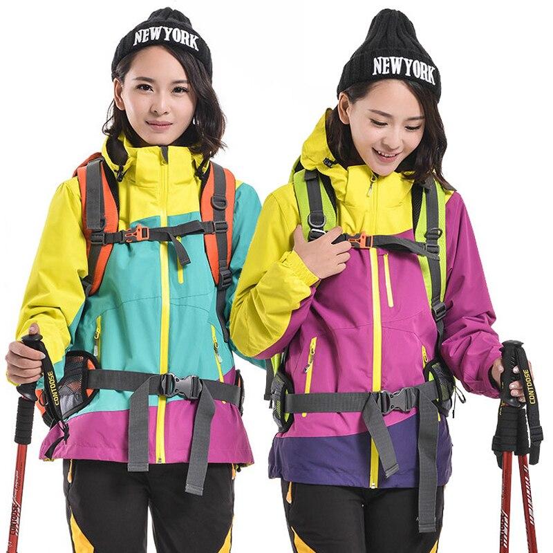 Veste de Snowboard Softshell et polaire randonnée hiver sports de plein air vêtements d'extérieur imperméable tenue chaude femmes ski manteau vestes