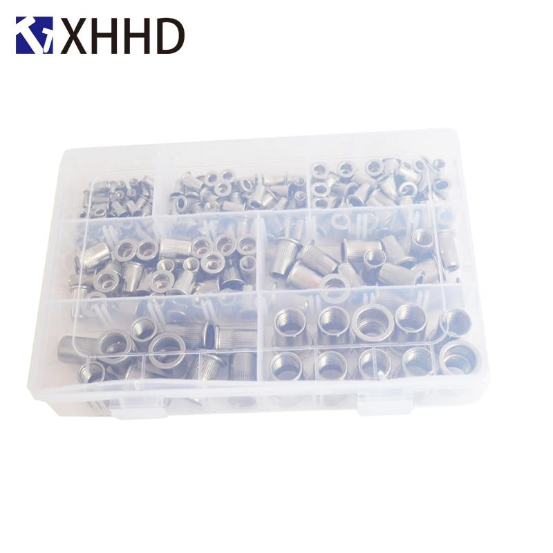 Image 3 - 304Stainless Steel Flat Head Rivet Nut Metric Thread Nutsert Insert Nut RivetingSet Assortment Kit Box M3 M4 M5 M6 M8 M10 M12-in Nuts from Home Improvement
