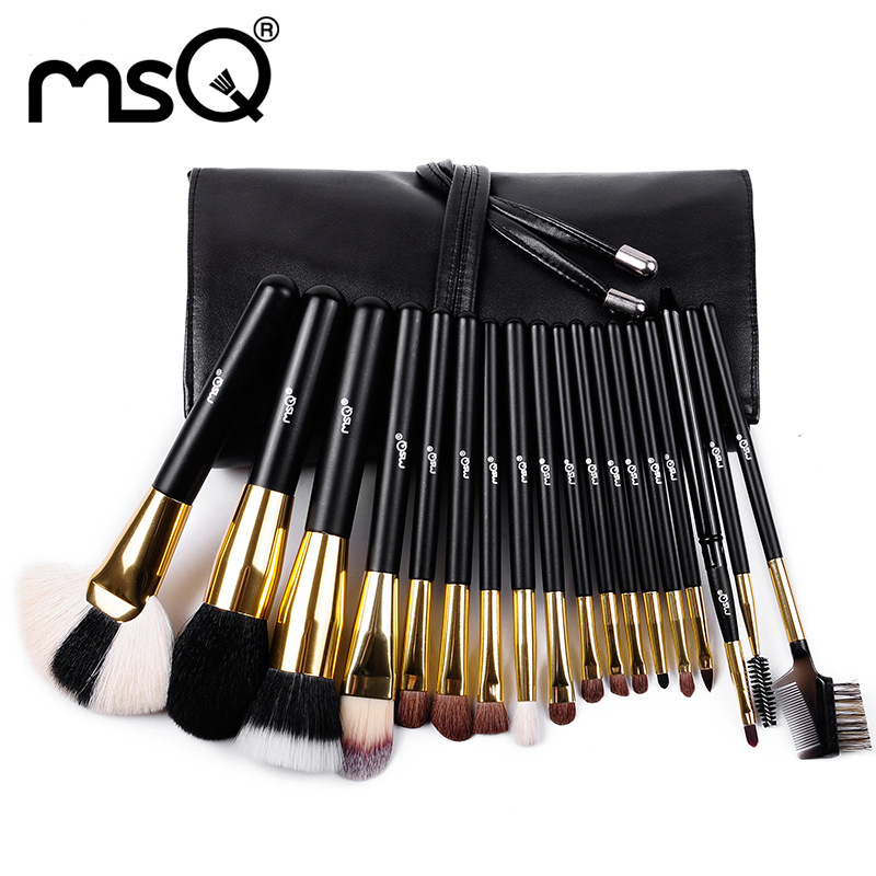 MSQ Pro 18Pcs Makeup Brushes Set Comestic Powder Foundation Blush Eyeshadow Eyeliner Lip Beauty Make up Brush Tools Maquiagem new pro 22pcs cosmetic makeup brushes set bulsh powder foundation eyeshadow eyeliner lip make up brush high quality maquiagem