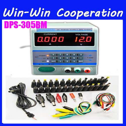 DPS-305BM 220V / 110V 4Ps Display Digital Control 30V 5A DC Voltage Regulated Power Supply for Laptop Repair with 39 Free Plugs dps 305bm dc power supply for laptop mobile phone repairing 30v 5a 0 001a accuracy 4 current display