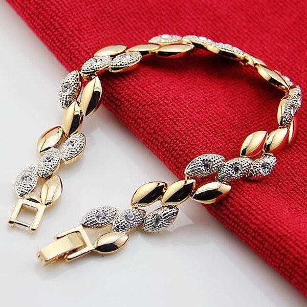 Chain Bracelet Womens: VALEN BELA Chain Link Bracelet Women Screw Gold Bracelet