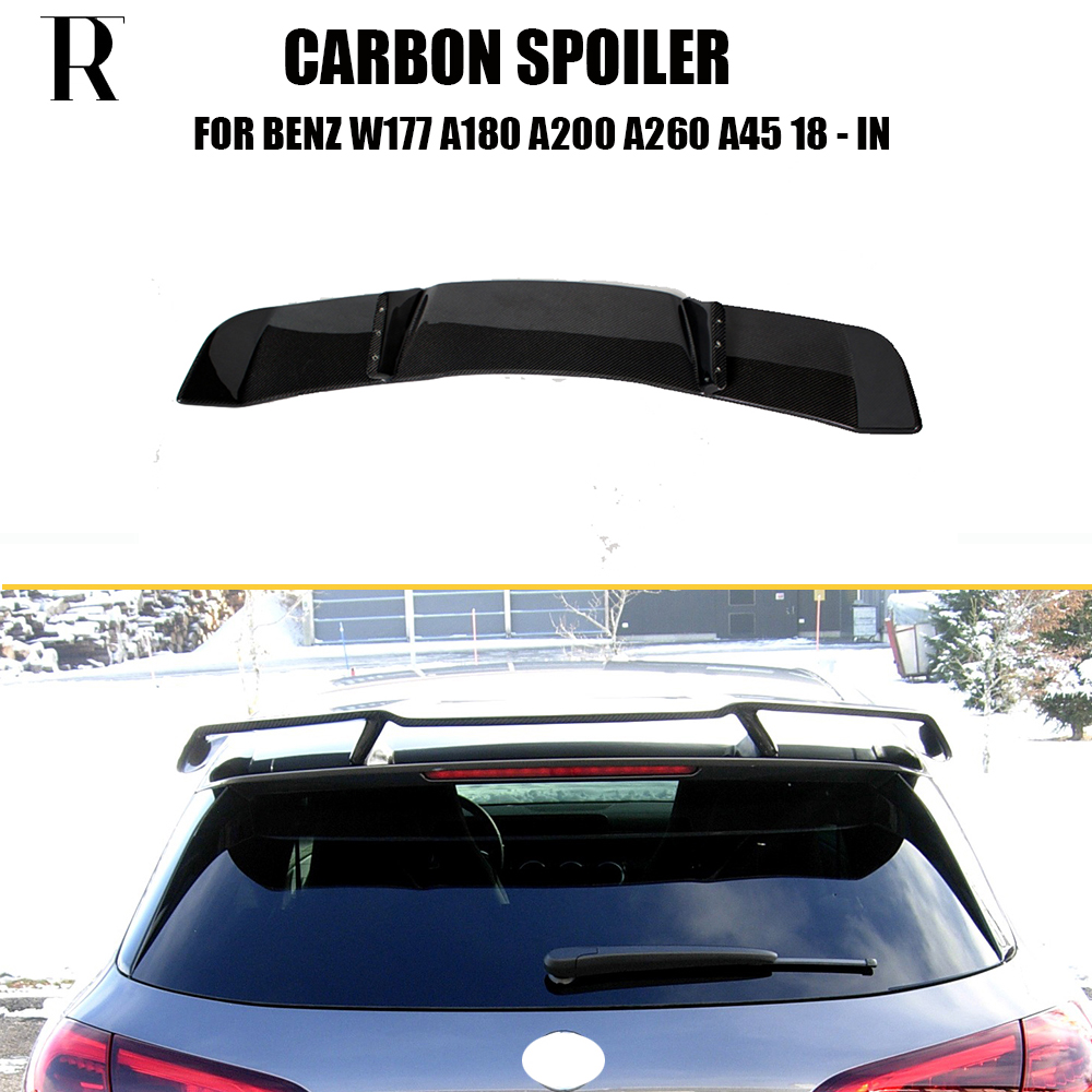 W177 R Style Carbon Fiber Rear Wing Spoiler for Benz W176 A Class A180 A200 A250 A260 & A45 AMG 2018 2019 2020